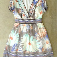 Full Bloom Vintage Print Dress [2573] - $36.00 : Vintage Inspired Clothing & Affordable Summer Dresses, deloom | Modern. Vintage. Crafted.