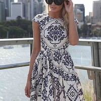 PAISLEY PRINT DRESS , DRESSES, TOPS, BOTTOMS, JACKETS & JUMPERS, ACCESSORIES, $10 SPRING SALE, PRE ORDER, NEW ARRIVALS, PLAYSUIT, GIFT VOUCHER, $30 AND UNDER SALE, SWIMWEAR,,White,Print Australia, Queensland, Brisbane