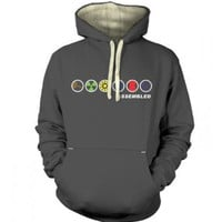 Assembled in a Row Adult Premium Hoodie Inspired by The Avengers: Amazon.co.uk: Clothing