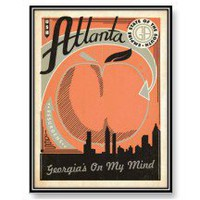 Vintage travel Atlanta USA - Post Card