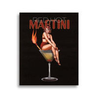 Martini Girls - Red Hot Wall Art - Bed Bath & Beyond