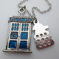 Tardis Necklace and Dalek Villain Inspired by Doctor Who