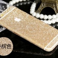 Furivy Luxury Bling Crystal Diamond Screen Protector Film Sticker for Iphone 6 Plus 5.5'' (Gold)