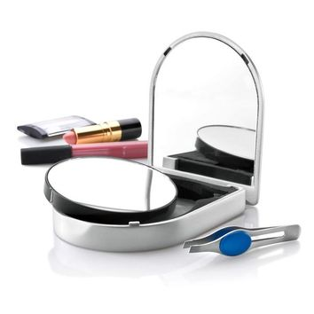 Travel Mirror & Tweezers