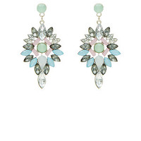 Light Green Drop Chandelier Earrings