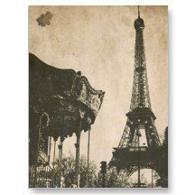 Vintage Paris Postcard, Eiffel Tower