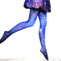 Magellanic Cloud Galaxy Tights | Shadowplaynyc | Space inspired clothing in nebula and galaxy prints