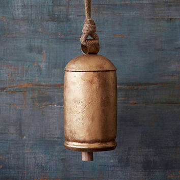 Large Gold Iron Hanging Bell