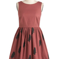Knitted Dove The Greatest Dress of Owl | Mod Retro Vintage Dresses | ModCloth.com