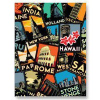 Travel posters retro vintage europe asia usa postcard