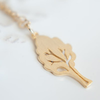 Little Tree Necklace, Available in Silver and Gold