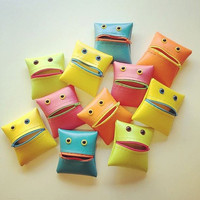 Monster Coin Purse in Neon Colorblock