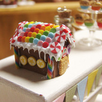 Miniature Food- Rainbow Gingerbread House | Flickr - Photo Sharing!