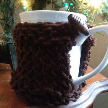 Coffee Cup Cozy with Coaster Bottom