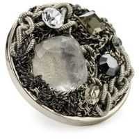 Sparkling Sage Mixed Chain Hematite-Color and Silver Tone Collage Ring, Size 7 - designer shoes, handbags, jewelry, watches, and fashion accessories | endless.com