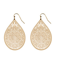 Wall Bloom Filigree Mini Teardrop Earrings