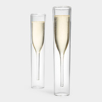Inside Out Champagne Glasses