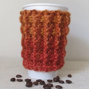 100% Baby Alpaca Coffee Cozy, Sweater, Handmade
