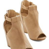ModCloth Walk and Learn Wedge in Sand