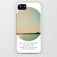 Swim The Sea iPhone Case by Alicia Bock | Society6