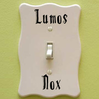 Harry Potter Lumos Nox Light Switch Vinyl Decal Sticker