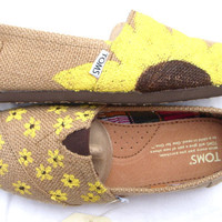 The Sunflower - Yellow Sunflower Custom TOMS