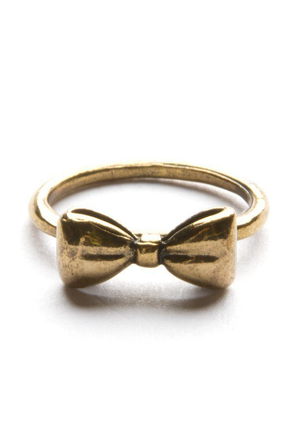 Gold Bow Ring