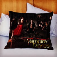 The Vampire Diaries on Decorative Pillow by KIDANGAN