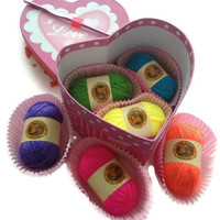 """Valentine's Day """"bonbon"""" candy box, heart box with """"bonbon"""" yarn, guilt free valentines candy, Valentine's Day Gift, Unique gift"""