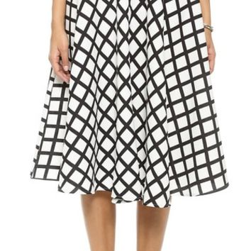 re:named Grid Lines Skirt