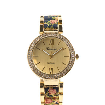 Floral Moral Bejeweled Watch