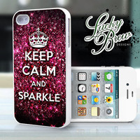 Keep Calm and Sparkle - iPhone 4 4s Hard Case - Phone Cover