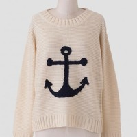 First Mate Anchor Sweater