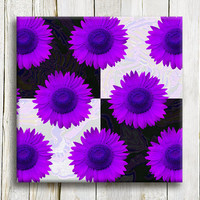 "Purple Flowers. Girl bedroom decor.12""/12"""