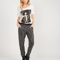 Marled Knit Joggers - Black /