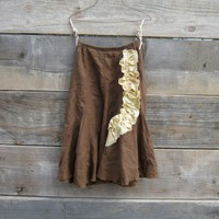Funky Eco Chocolate Brown Skirt by CreoleSha on Etsy