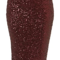 Sequin Tube Skirt - Skirts  - Clothing