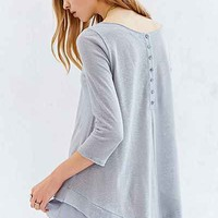 Kimchi Blue Button-Down Her Back Tunic Top-