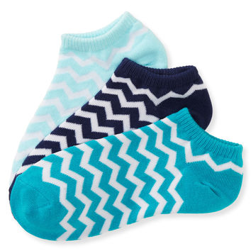 Aeropostale  3-Pack Chevron Ped Socks