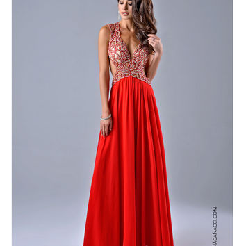 Preorder - Nina Canacci Sexy Red Cut Out Dress Prom 2015