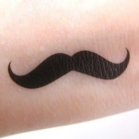 Moustache Mustache Temporary Transfer Tattoo Set from nailartsupplies