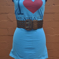 I Love Hawaii women's tank tunic or mini dress made from by SewRed