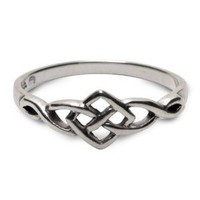 Amazon.com: Petite Celtic Ring in sterling silver - size 9: Jewelry