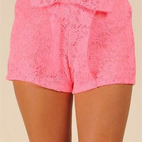 Astoria Bow Short - Pink at Necessary Clothing