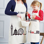 personalised london print apron by 3 blonde bears | notonthehighstreet.com