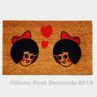 Mr. & Mr. Boh OR Ms. n Ms. Utz - Queer Natty Love -Boy what a doormat | Damn Good Doormats