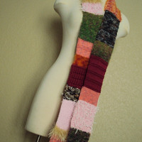 Waste Not Want Not Multi-Color Knit Scarf