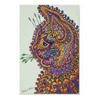 Louis Wain Fantasy Wallpaper Cat Posters from Zazzle.com
