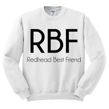 White Crewneck - Redhead Best Friend - Sweatshirt Sweater Jumper Pullover