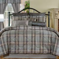 Gray Plaid Bedding Set (Twin, Full, Queen)